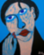 After Picasso, Billy Cone Acrylic On Canvas, 48 inches by 60 inches Faceture Painting