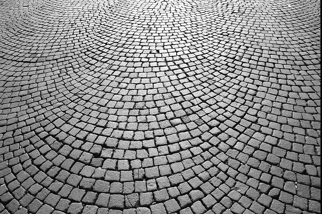 Cobblestone Street of Verona