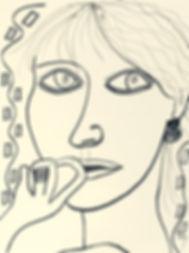 Billy Cone Faceture, Black Prismacolor Drawing On 90 Pound Paper, Portrait