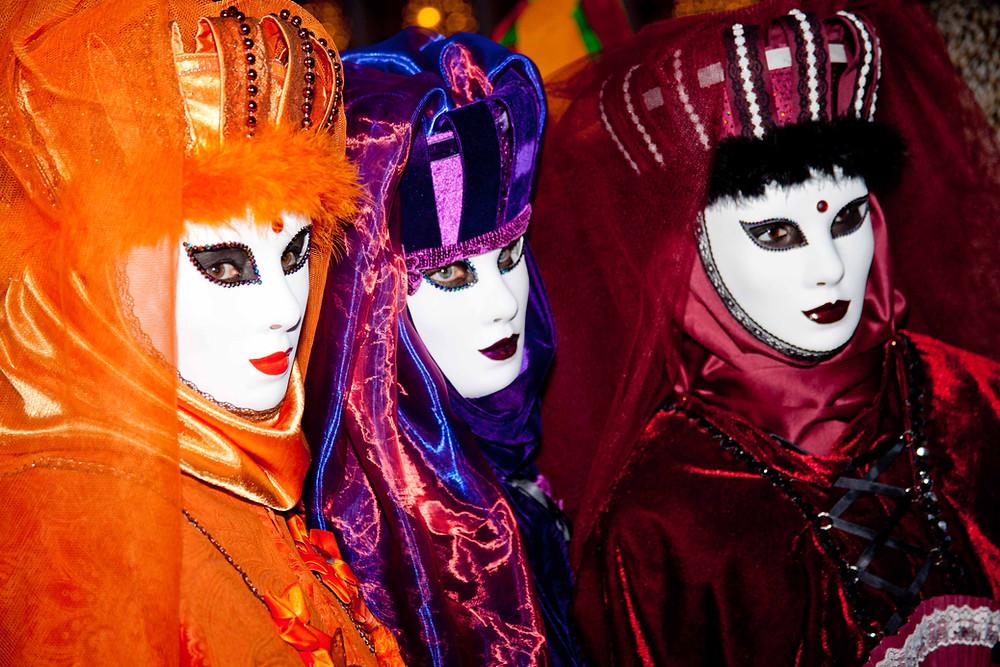 Venice Italy Carnival Masks Photo Billy Cone