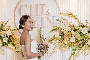 Chi & Yin Wedding, 卓韻芝 婚禮 結婚, 黃 白, Yellow & White, 香港婚禮佈置