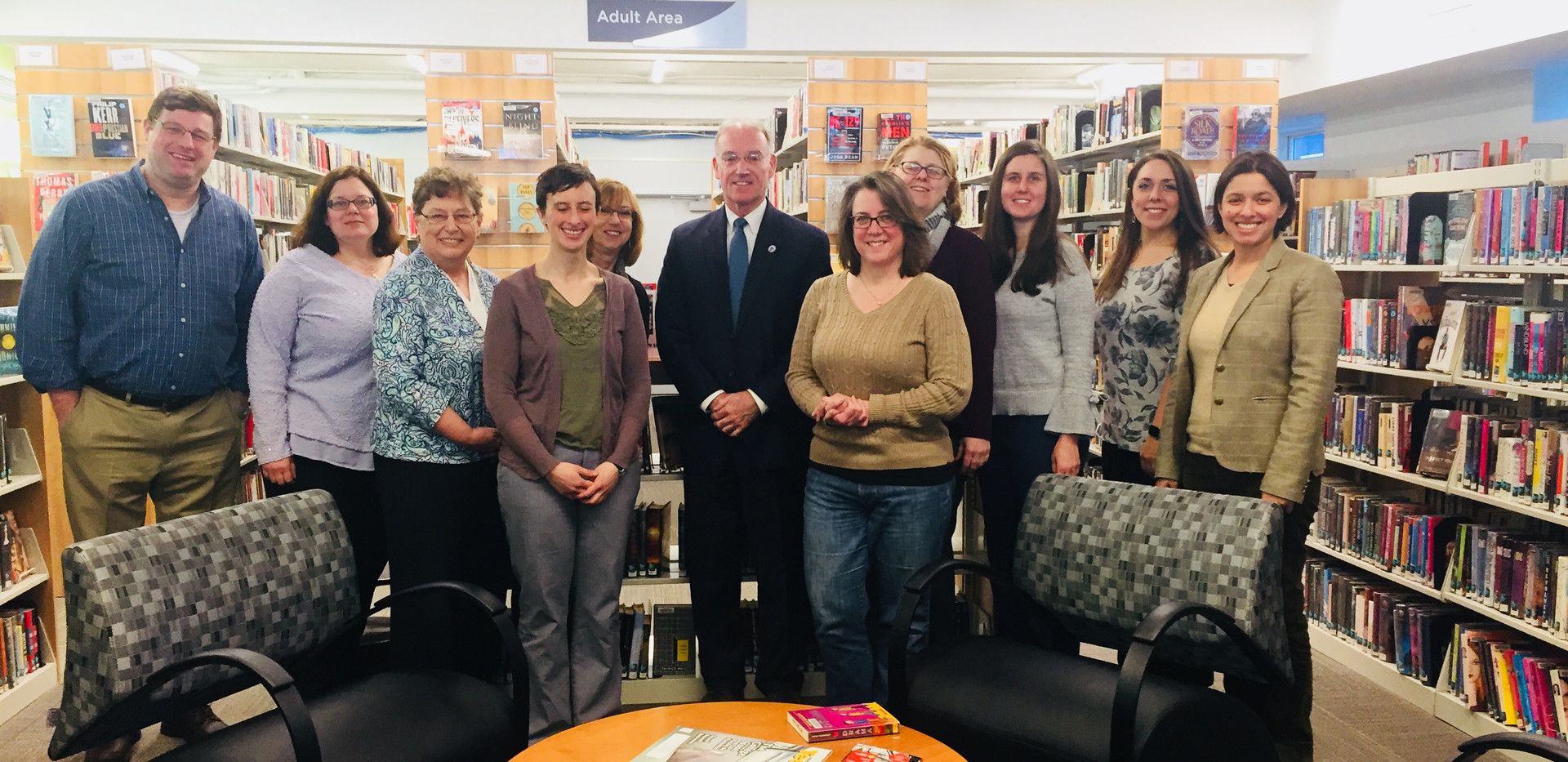 Met with Rep. Brian Murray, Co-Chair of the House Library Caucus  March 19, 2018
