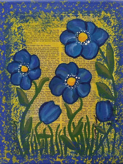 BLUE SUNSHINE - MIXED MEDIA - SOLD