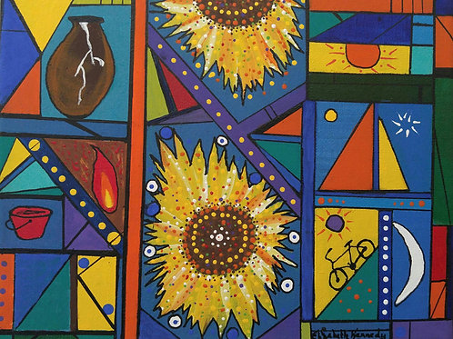 SAILBOATS STAINED GLASS