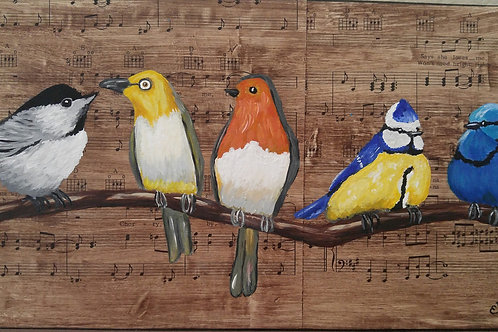 SINGING BIRDS - Mixed Media