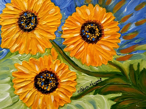 SUNFLOWER TRIO -SOLD
