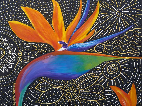 BIRD OF PARADISE IN GOLD - SOLD