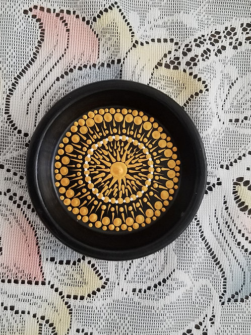 JEWELRY HOLDER GOLD DOT COMPASS
