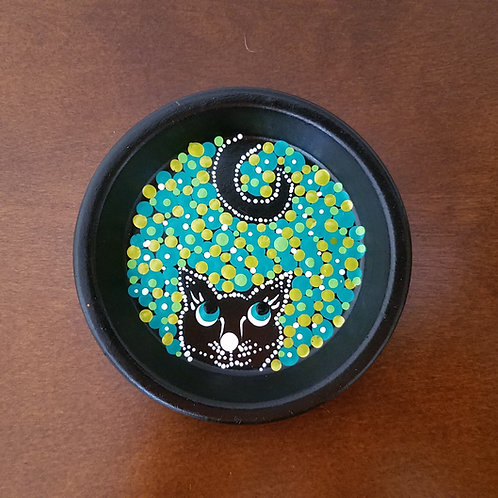 JEWELRY HOLDER GREEN DOT KITTY - SOLD