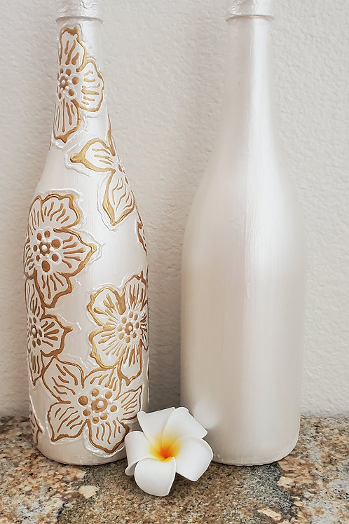 WINE BOTTLE VASES - SOLD