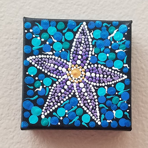PURPLE DOT STARFISH CUBE