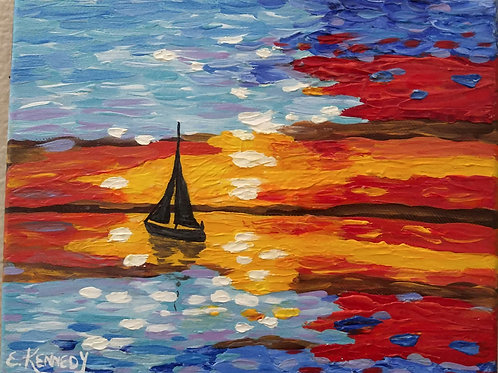 SUNSET SAIL - SOLD