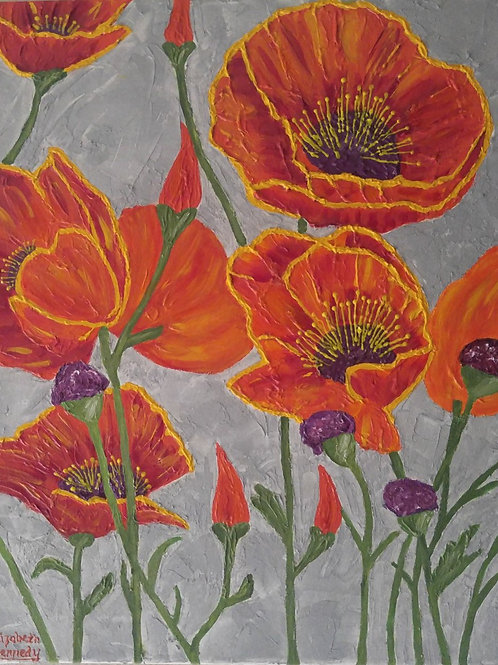 SPRING POPPIES - SOLD