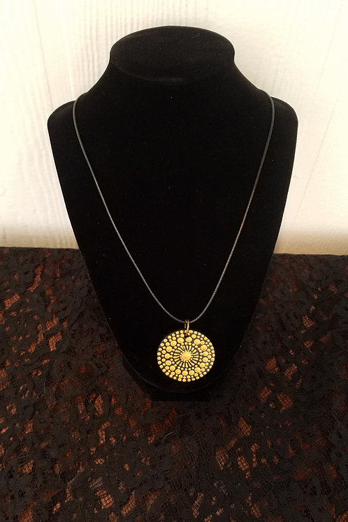 NECKLACE MANDALA GOLD COMPASS - SOLD