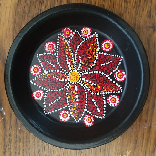 JEWELRY HOLDER RED DOT FLOWER - SOLD