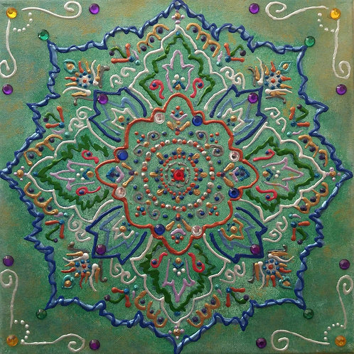 MOROCCAN MEDALLION - Mixed Media - SOLD