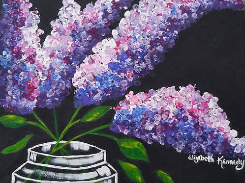 LILACS IN JAR - SOLD