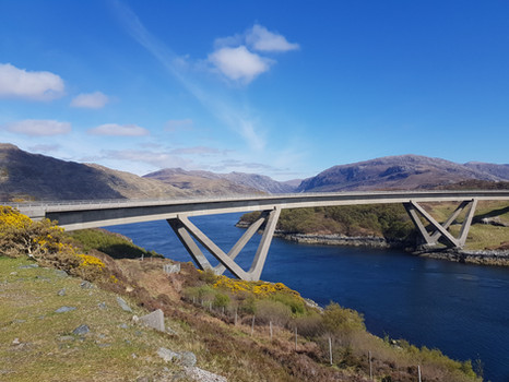 Bridge over Kylesku over Loch Assynt