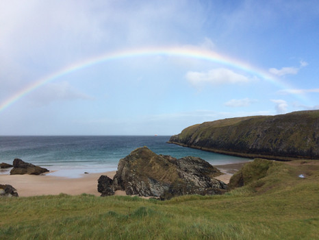 Rainbow over Sango Sands Beach