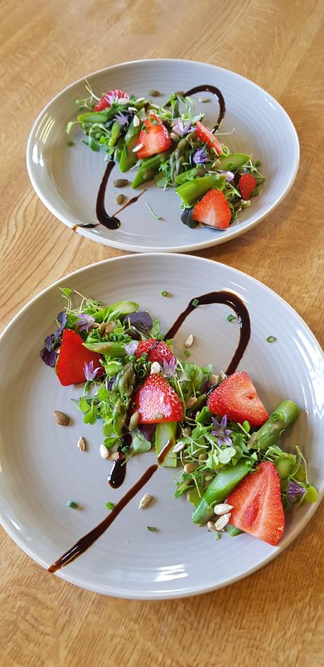 Strawberry & Asparagus Salad