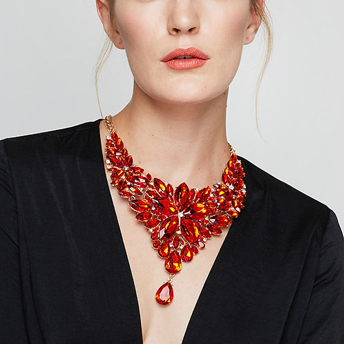 Women's Crystal Statement Necklace Bib Chunky Cheap Ladies Baroque Elegant Alloy