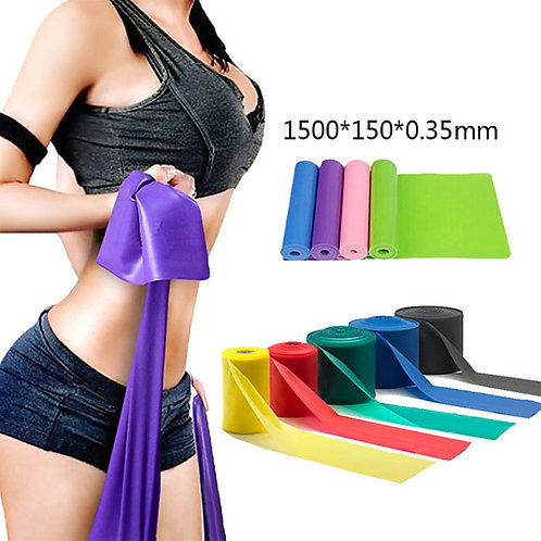 Exercise Resistance Bands 1 pcs Sports TPE Home Workout Gym Yoga Odor Free Eco-f