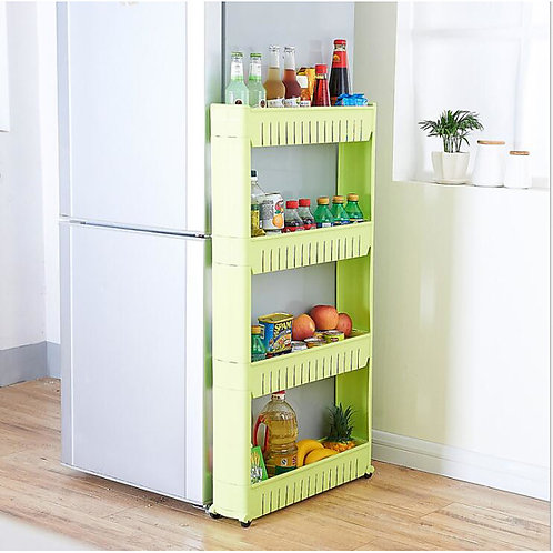 High Quality movable three-layer crevice storage rack household kitchen convenie