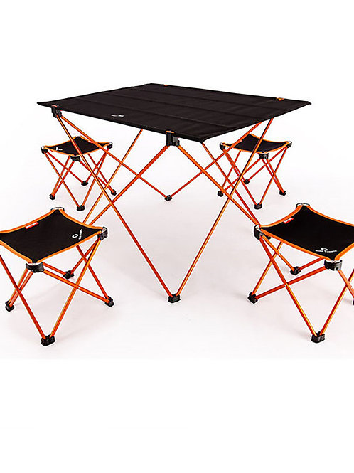 BEAR SYMBOL Camping Folding Table with Stools Portable Anti-Slip Ultra Light (UL