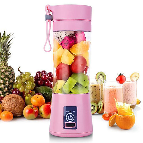 Usb Rechargeable Blender Mixer 6 Blades Juicer Bottle Cup Juice Citrus Lemon Veg