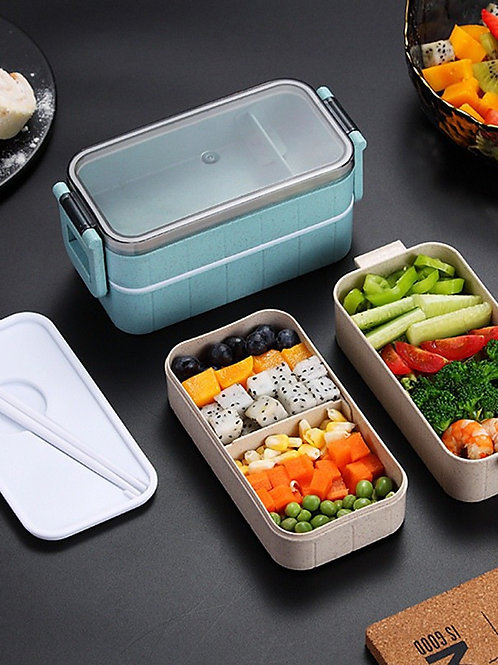 Japanese Microwave Lunch Box Compartment Leak-Proof Bento Box For Student Kids S