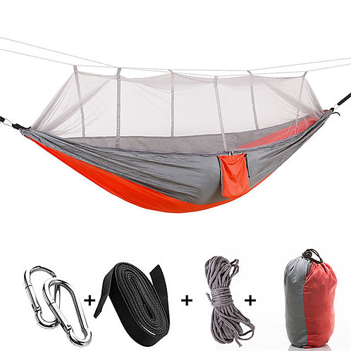 Camping Hammock with Mosquito Net Double Hammock Outdoor Ultra Light Portable Br