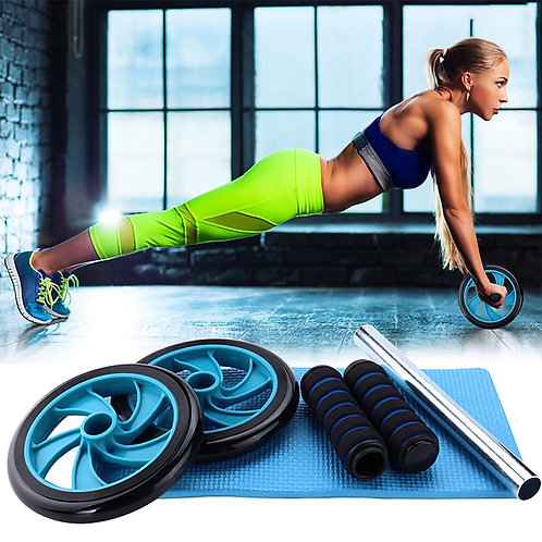 Ab Wheel Roller with Form Fit Safety Anti Slip Strength Training Muscular Bodywe