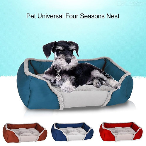 Soft Comfortable All Season Pet Bed Cozy Warm Puppy Dog Cat Nest With Reversible