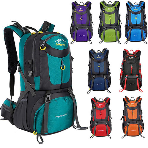 60 L Hiking Backpack Rucksack Breathable Straps - Lightweight Breathable Rain Wa