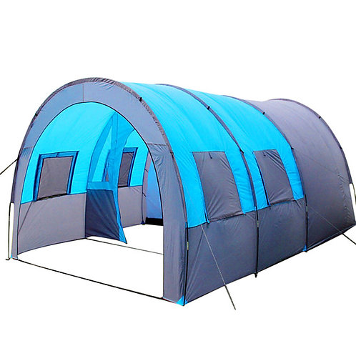 8 person Tunnel Tent Family Tent Outdoor Lightweight Windproof Breathability Sin