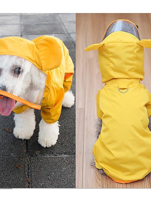 Dog Rain Coat Dog Clothes Yellow Green Costume Mixed Material Waterproof S M L X