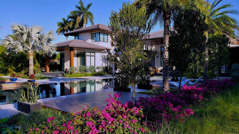 Landscape Architecture Pool Area, Miami FL Residence