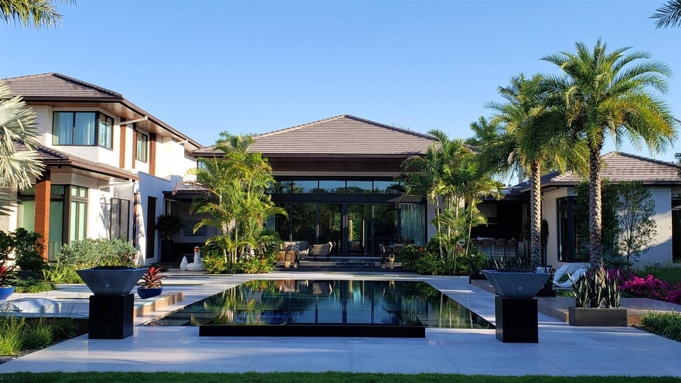 Infinity Edge Pool Landscape Architecture Miami Florida Residence