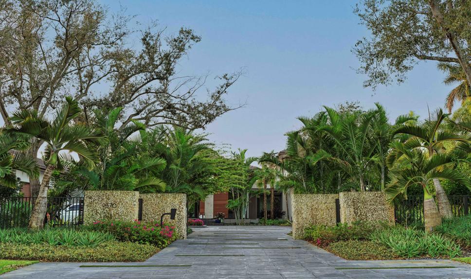 Landscape Design Front Entry Gate at Mia