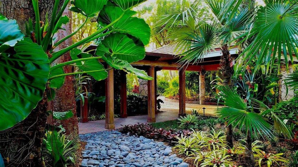 Garden Walkway Landscape Design Miami Residence