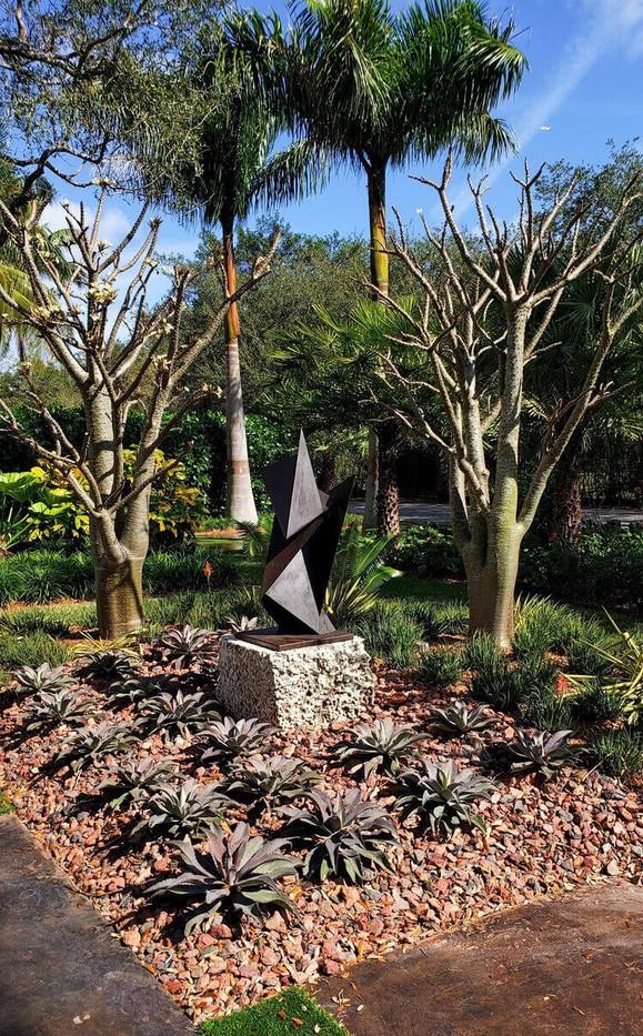 Formal Entrance Landscape Architecture Miami Residence
