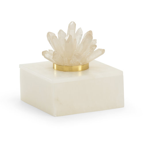 Albaster And Crystal Box