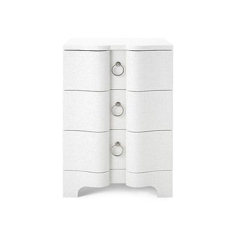 BARDOT 3-DRAWER SIDE TABLE, WHITE