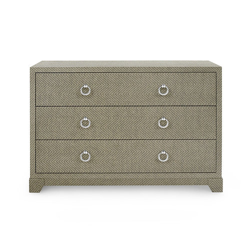 BRITTANY LARGE 3-DRAWER, GRAY TWEED