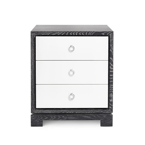 BERKELEY 3-DRAWER SIDE TABLE, GRAY