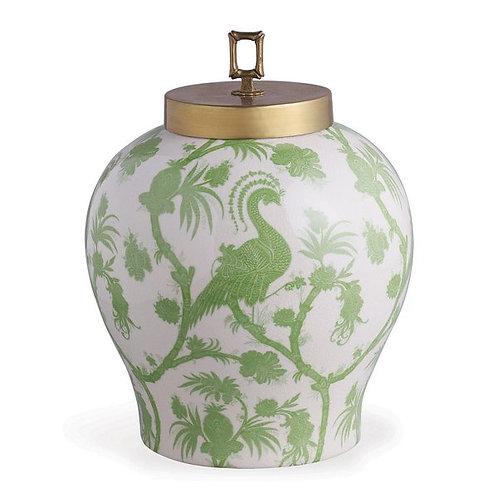 Balinese Peacock Green Jar