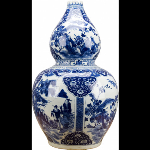 Blue And White Large Gourd Vase