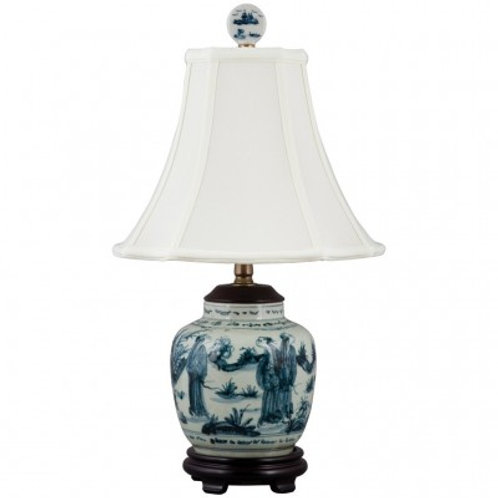 BLUE AND WHITE LAMP-PEOPLE