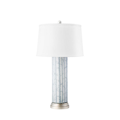 BIRCH LAMP, GRAY AND WHITE