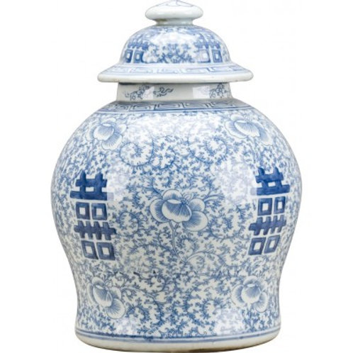 BLUE AND WHITE- DOUBLE HAPPINESS GINGER JAR